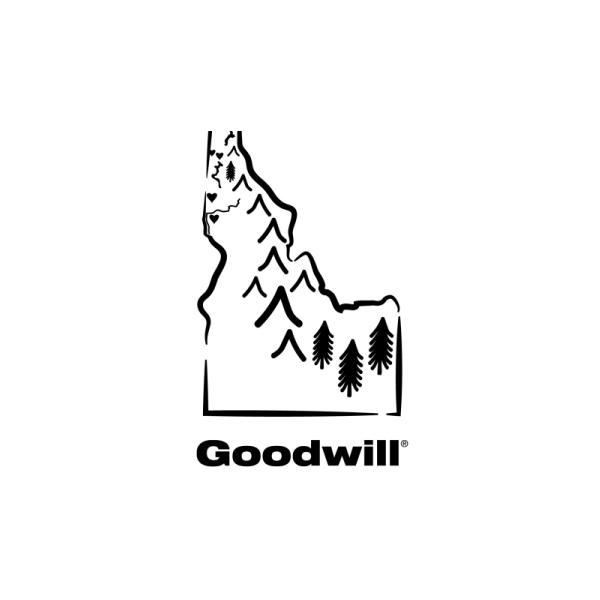 Goodwill text with Idaho illustration.